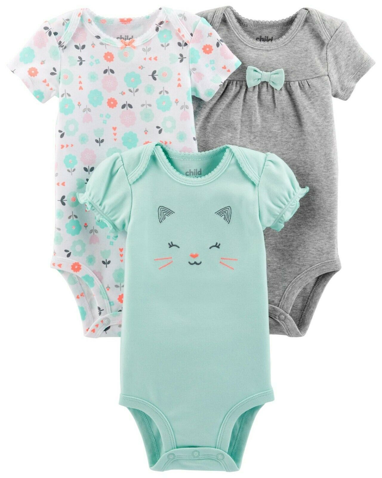 Carters Girls Premature 5 Pack Bodysuits Preemie Gold Love Reborn Dolls