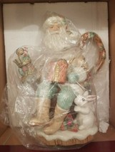 Fitz and Floyd Winter Wonderland Santa Teapot NIB New  - $134.05