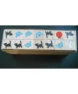Vintage Animal Dominoes Children's Colorful Painted Wooden Set of 84 PC ... - $6.50
