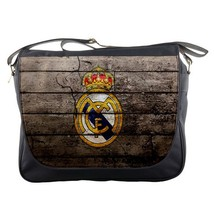 Messenger Bag Real Madrid Logo Football Club Team In Spain Wood Sports Design An - $30.00