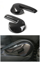 Carbon fiber Seat adjustment Decoration cover trim for Ford mustang 2015-2017 - $49.49