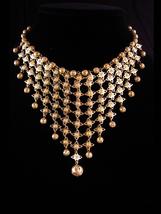 Vintage Cleopatra necklace - statement bib choker - exotic jewelry - egy... - $95.00