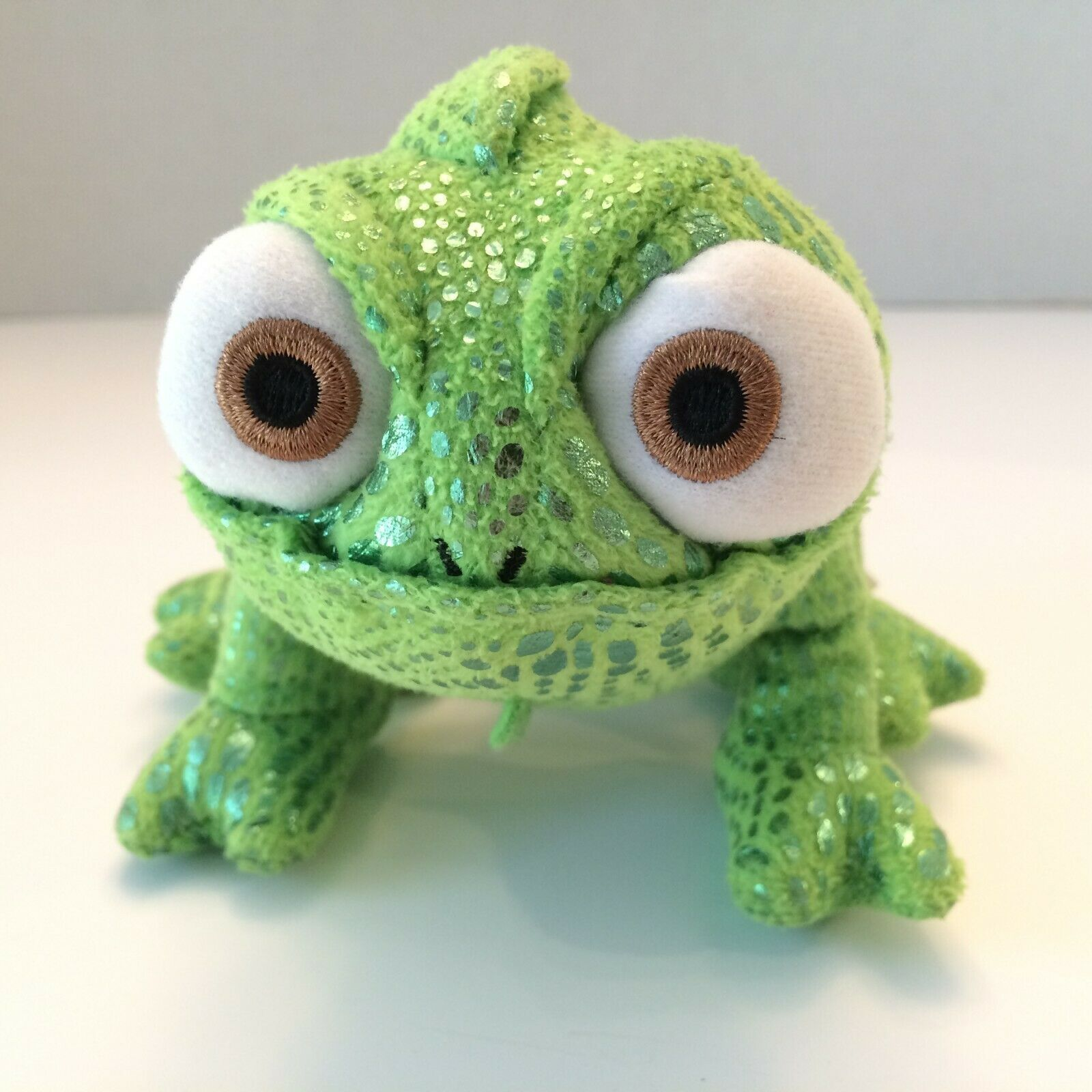 "Primary image for Disney Store Tangled Pascal the Chameleon 8"" Green Plush Stuffed Toy Lizard"