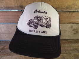 COLUMBIA Ready Mix Vintage Trucker Snapback Adjustable Adult Cap Hat - $14.84