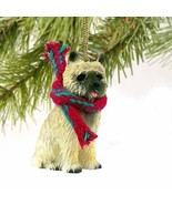 Cairn Terrier Miniature Dog Ornament - Red - $15.64