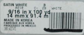 McGinley Satin 100666 White Acetate Ribbon 100 yd  Pkg 1 Spool image 4