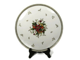 "Mikasa Holiday Delight Round Cake Plate Tray Petite Bone China  9 3/4"" - $21.77"