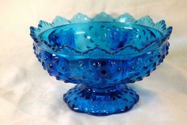 Fenton 1979 Hobnail Colonial Blue Candle Bowl - $19.79