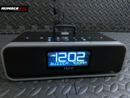 iHome iD91 Black Speaker Charge Dock Clock Radio For ipod iphone with AC Adapter - $39.59