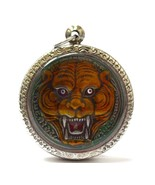 Muaythai Amulets Fighter Tiger Pendants Lp Pern,Life Protection Lucky Am... - $57.88