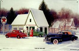 Top of the Line Texaco Gas Jack Schmitt Retro Automotive Classic Metal Sign - $29.95