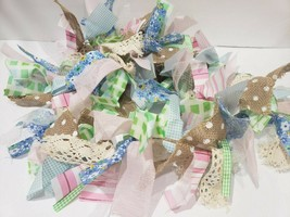 Easter Fabric Rag Pastel Garland Home Decor Decoration 6FT - $21.99