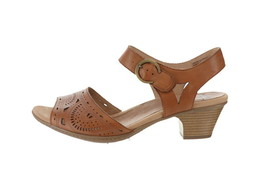 Earth Leather Two-Pc Heeled Sandals- Carson Westport Alpaca 9W NEW A352408 - $85.12