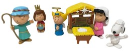 Peanuts Nativity Annual Christmas Pageant Deluxe Figure Set Charlie Brown Snoopy - $17.99