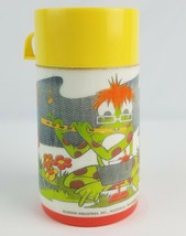 Vintage Musical Frog playing flute Aladdin thermos for lunchbox - $7.69
