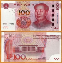 "CHINA PRC 2015 UNC 100 Yuan Banknote Paper Money Bill P- 909 ""Mao Tse-tung"" - $23.24"