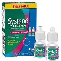 Systane Ultra Lubricant Eye Drops for Dry Eyes Symptom Relief 10ml Twin ... - $24.24