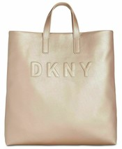 NWT DKNY Women's Tilly Large Tote Crossbody Strap Embossed Signature Log... - $74.84