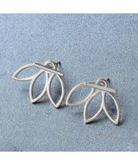 925 Sterling Silver Lotus Flower Stud Earrings Best Gift For Women and G... - $43.06