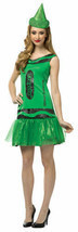 Adult Crayola Illuminating Emerald Glitz & Glitter Dress by Rasta Impost... - $27.09