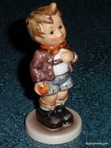 "Goebel Hummel Figurine ""Cheeky Fellow"" #554 TMK7 With Box - Boy With Apple! - $77.59"