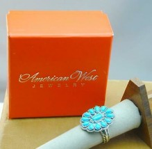 Carolyn Pollack American West Sterling Turquoise Ring New In Box 8 - $89.99