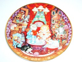 Whisker Wuv Plate Franklin Mint Heirloom Bill Bell Crazy Cat Lady Valentine - $7.97
