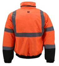 Men's Class 3 Safety High Visibility Water Resistant Reflective Neon Work Jacket image 14