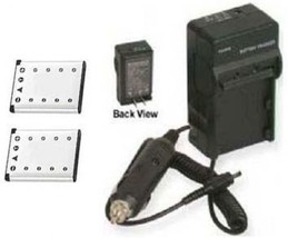 2 Two Batteries + Charger for Olympus VR-320 VR-330 SP-700 TG-310 X-15 X-560 WP - $23.88