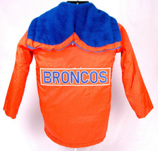 Denver Broncos Winter Coat-Orange-Boys 14-NFL-Chest/Back Patch-Zip Hood-Sears - $93.49