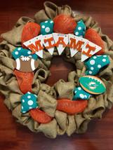 Miami Dolphins Custom Made Wreath - $55.00