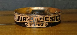 Vintage Antique Hand Carved Handmade Mexican Wooden Ashtray- Tijuana 1947 - $74.80