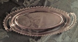 """Imperial Glass Candlewick Celery Vanity Tray 400/105 13-1/2"""" Oval Handle... - $16.14"""