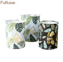 FULLLOVE® 40*50cm Leaves Printed Dirty Laundry Basket Foldable Storage - $22.14+