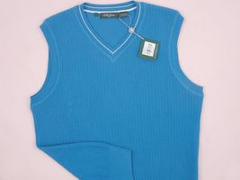 NEW! NWT! $135 Bobby Jones Collection Colorful Vest! 100% Peruvian Pima Cotton image 6