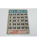 Pepsi Cola Advertising Bingo Card Refresh without Filling Cardboard 1950... - $14.50