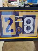 Kobe Bryant and Derek Fisher autographed Jersey numbers in custom case - £302.56 GBP