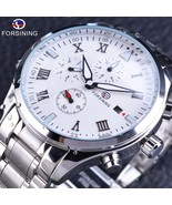 FORSINING White dial, men's mechanical wristwatches.M-GMT 1036-3. - $89.99+