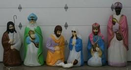 Vintage 8 Piece Set Empire Life Size Nativity Set Lighted Christmas Blow... - $1,237.50