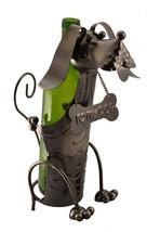 Wine Bottle Holder Dog With I Love My Dog Bone Collar Character - $26.89