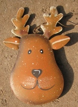 OR503- Reindeer Metal Christmas Ornament - $1.95