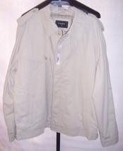 NWT Lacoste Cotton Lined Full Zipper Khaki Beige Jacket Coat Mens Size 9 3XLarge - $272.25