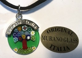 Genuine Murano Glass Millefiori Pendant Frameless 18 Mm - $19.79