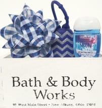 Bath and Body Works Fresh Sparkling Snow Pocketbac,  Holder & Blue Bow M... - $19.29