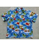 Vintage RJC LTD Men's Hawaiian Shirt Size XL Cotton Made In Hawaii - $34.64