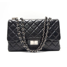 CHANEL Classic JUMBO Reissue Hybrid Flap Bag Black Leather SILVER Hardware - $80.840,36 MXN