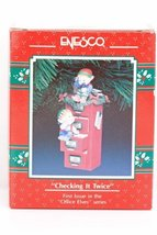 Enesco Checking It Twice Holiday Ornament, First Issue in the Office Elves serie - $21.78
