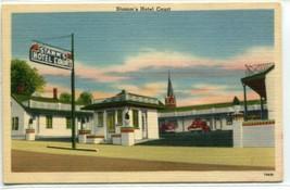 Stamm's Hotel Court Motel Hopkinsville Kentucky linen postcard - $5.89
