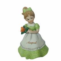 Lefton figurine vtg japan porcelain sculpture gift birthday August green... - $29.65