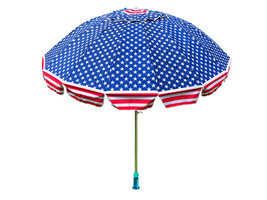 8 Feet USA American Flag Beach Umbrella with Durable Carry Bag / Telescopic - $63.95 CAD